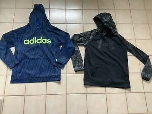 Lot of 2 Boys Nike, Adidas Sweatshirt Hoodies Sz XL