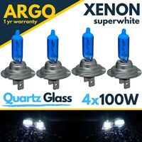 4x H7 Xenon White Super Headlight Bulbs 100w Quartz Upgrade Hid 499 Car Bulb 12v