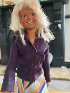 1974 Vintage Dusty Kenner Doll in Original Clothes, Long Skirt, Purple 2 piece