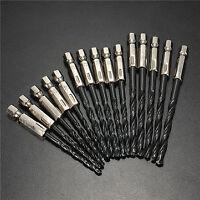 15pcs* 3/4/5mm HSS 1/4 Inch Hex Shank Twist Drill Bit /