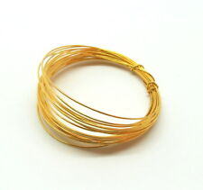 Jewelry Beading Wire 22K Gold Overlay Half Hard 26 Gauge Wrapping Wire 10 Feet