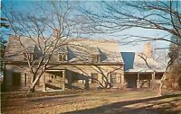 Flushing Long Island New York~Bowne House~Fallen Leaves 1950s PC