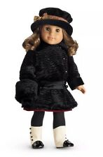 NIB American Girl Rebecca Winter Coat with Muff in Luxurious Faux Fur NEW!