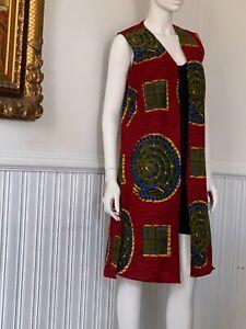 Ankara Waistcoat with split sides