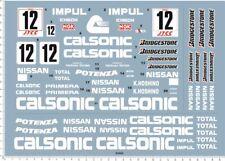 1:12 Scale Nissan nismo Calsonic Skyline GTR GrA K.HOSHINO GT-R ´93 Model Decal