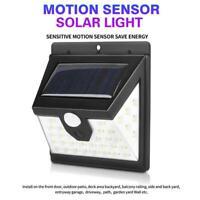 Waterproof 40 LED Solar Power PIR Motion Sensor Wall Light Outdoor Garden Lamp
