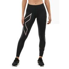 2XU женский средней высоты сжатия плотный черный спорт бег спортзал дышащий