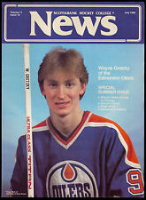 1982 July Wayne Gretzky oilers on Scotia Bank Hockey College News Magazine cover