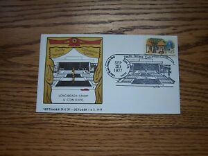1977 Long Beach Stamp Club Pacific Center Cachet & Huge Pictorial Cancel 50K