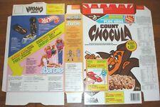 1986 Count Chocula Monster Cereal Box Barbie Hot Wheels