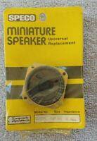 "NOS 1974 SPECO Model U105S 1-1/2"" Square SPEAKER Sealed Orig Plastic on Card"