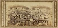 Italia Napoli Château Sant'Elmo c1865 Foto Sum & Behles Stereo Albumina
