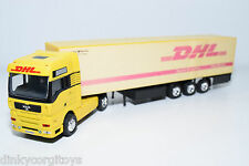 REALTOY MAN TRUCK WITH TRAILER DHL EXCELLENT CONDITION