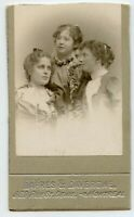 Young Women Posing Vintage CDV Photo by Lapres and Lavergne   Montreal Quebec