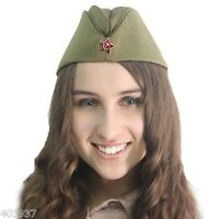 PILOTKA with Red Star Original Soldier Garrison Field Cap Russian cotton fabric