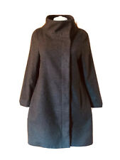 Veronika Maine-Funnel Collar Wool Mix Coat-Size 8