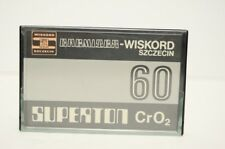 #3 USED Vtg Polish Cr02 Audio Cassette Tape SUPERTRON Wiskord Szczecin Chemitex