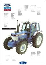 FORD TRACTOR 8210 NEW HOLLAND SALES BROCHURE/POSTER ADVERT A3