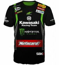 Monster Energy Motorcycle Size S-5XL 3D T-shirt Kawasaki Racing Team Full Print