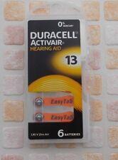 6 PEZZI Batterie PILE Duracell Activair 13 PROTESI Acustiche Auricolare PR48