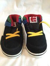 Etnies RVM Black Blue Red Yellow Baby Skater Shoes UK Toddler Size 8.5T BNWOB