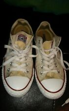 converse chuck taylor all-star size 5y white (needs tlc)