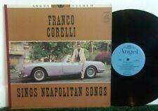 FRANCO CORELLI Sings Neapolitan Songs Vinyl LP Folk World Country Angel S 35852