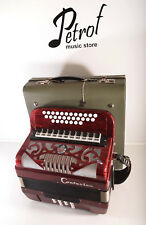 EXCELLENT CONTASINA /WELTMEISTER RARE TOP BUTTON DIATONIC ACCORDION A440~GERMANY