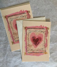 2 Connections From Hallmark Valentine's Day Card WISHING YOU HAPPINESS Pink Gold