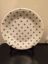 Fiesta 2016 HLCCA  Limited Ed. SHAMROCK GREEN Polka Dots -  DINNER PLATE - HTF