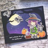 Witch Metal Cutting Dies clera stamp for DIY Scrapbooking Card Making Decorat_ti