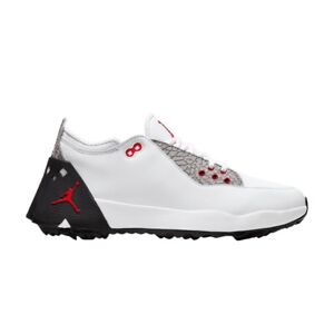 NIKE Air Jordan ADG 2 White Black Red Golf Shoes Men's Sizes 11.5 CT7812-100
