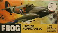 FROG 1/72 Hawker Hurricane 2C unmade complete sealed bag