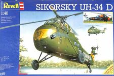 Revell 1:48 Sikorsky UH-34 D Helicopter Plastic Model Kit #4485U