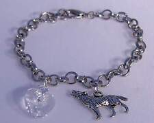 ♥ breaking dawn bellas pulsera Edward corazón Jacob Lobo Plateado cristal ♥ abb001