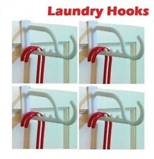 New 3 x Over The Door Hanger PVC Hook Clothes Multipurpose Hanging