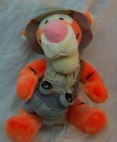 "Walt Disney World Animal Kingdom SAFARI TIGGER 10"" Plush STUFFED ANIMAL Winnie"