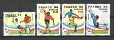 Football Burkina Faso (62) série complète 4 timbres oblitérés