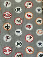 2pc Pottery Barn Teen Full Bed Fitted Flat Sheets NFL Professional Football Gray