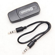 Wireless Bluetooth V4.0 Receiver A2DP Audio RCA to 3.5mm AUX +USB Adapter HUB