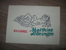 exlibris von E. Aulitzky op 285 T.D. n. X 6/3 erotic Akt