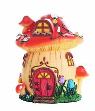 Miniature Fairy Garden of Enchantment Mushroom Fairy Toadstool Cottage Figurine