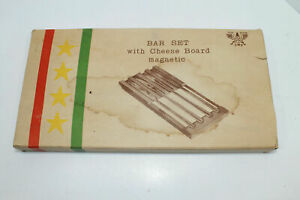 5-Piece Top Flite Bar Set With Magnetic Cheese Board NOS Circa 1960