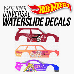 Hot Wheels ANIME ITASHA White Toner Universal WaterSlide Decal 1/64 Scale