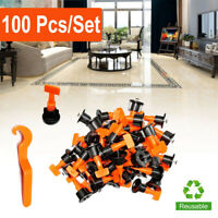 100 Pcs/ Pack Reusable Anti-Lippage Tile Leveling System Locator Spacer Tool Set