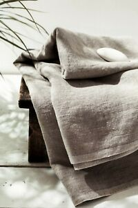 Natural linen sheet Stone washed SPA massage towel Flax beach sheet Sauna gift