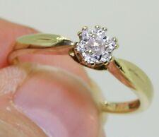 9CT YELLOW GOLD 0.05CT DIAMOND RING  9 CARAT SINGLE STONE SOLITAIRE