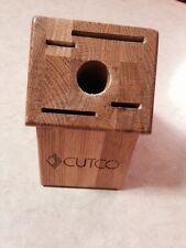 Cutco Knife Block Honey Oak 4 slot and 1 hole