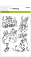 Craft EMOZIONI Timbro Clear Set-Natale Animali Domestici 3