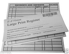 Large Print Checkbook Register Low Vision 2016-17-18 Calendar - Set of 5